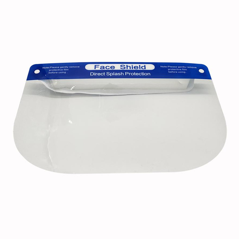 Disposable protective face shield